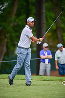 Pablo Larrazabal (ESP) watches his tee shot on 5 during Friday's round 2 of the PGA Championship at the Quail Hollow Club in Charlotte, North Carolina. 8/11/2017.<br /> Picture: Golffile | Ken Murray<br /> <br /> <br /> All photo usage must carry mandatory copyright credit (&copy; Golffile | Ken Murray)