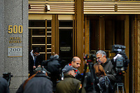 Journalist wait outside of the U.S. Federal Court (C) where two relatives of Venezuelan President Nicolás Maduro, Efraín Antonio Campo and Francisco Flores were scheduled to go before a federal judge in New York. 11.12.2015.  Eduardo MunozAlvarez/VIEWpress.