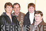 CONCERT: Enjoying the Finbar Wright in concert in the Church of the Assumption, Abbeyfeale on Friday night were l-r: Mary and Tom Broderick (Abbeyfeale), Ann Carroll (Athea) and Joan Broderick (Killarney).   Copyright Kerry's Eye 2008