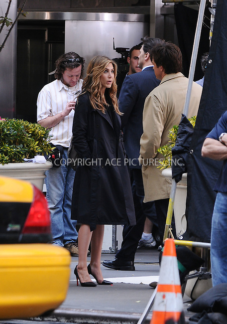 WWW.ACEPIXS.COM . . . . .  ....April 27 2009, New York City....Actors Jennifer Aniston and Jason Bateman were on the Upper East Side set of the new movie 'The Baster' on April 27 2009 in New York City.....Please byline: AJ Sokalner - ACEPIXS.COM..... *** ***..Ace Pictures, Inc:  ..tel: (212) 243 8787..e-mail: info@acepixs.com..web: http://www.acepixs.com