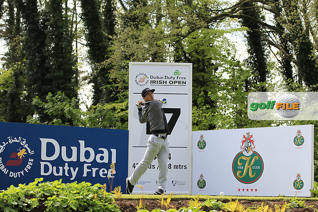 Thorbjorn Olesen (DEN) on the 17th tee during Tuesday's Practice round of the Dubai Duty Free Irish Open Trophy at The K Club, Straffan, Co. Kildare<br /> Picture: Golffile | Thos Caffrey<br /> <br /> All photo usage must carry mandatory copyright credit <br /> (&copy; Golffile | Thos Caffrey)