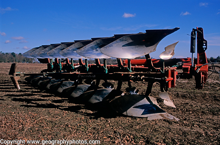 A794K4 Close up of blades of modern plough