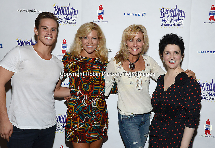 Neil Starkenberg, Felicia Finley, Judy McLane and Lauren Cohn attend the 28th Annual  Broadway Cares/ Equity Fights Aids Flea Market and Auction on September 21,2014 in Shubert Alley in New York City. <br /> <br /> photo by Robin Platzer/Twin Images<br />  <br /> phone number 212-935-0770