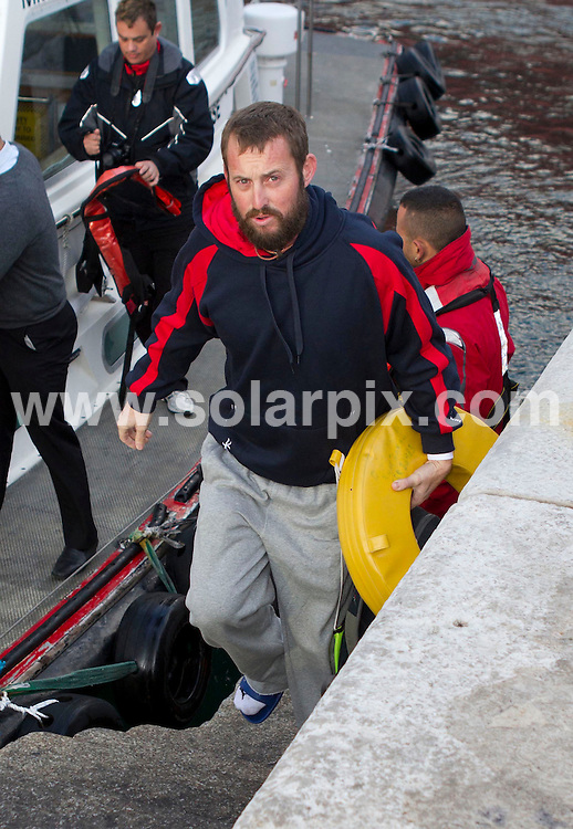 **PICTURES FROM SOLARPIX.COM**                                 **WORLDWIDE SYNDICATION RIGHTS**     .**PICS TO GO WITH WORDS BY GERARD COUZENS-TAG MEDIA**              .Atlantic Odyssey Challenge Team arrive back on shore at the Port of Gibraltar and  this morning after being rescued when their rowing boat capsized during their record attempt to row from Morocco to Barbados in under 30 days. .The six men were picked up 27 days into their journey, from a life raft by a Panamanian-flagged cargo ship..The crew were:.Ian Rowe, 45, from Bedford; Aodhan Kelly, 26, from Dublin; Simon Brown, 37, from Wiltshire, Yaacov Mutnikas, Mark Beaumont, 29, from Perthshire in Scotland, and skipper Matt Craughwell.                                                                                This pic:    Skipper, Matt Craughwell                                                                                       JOB REF:    14459    AB1       DATE:  09.02.12                                                           **MUST CREDIT SOLARPIX.COM OR DOUBLE FEE WILL BE CHARGED**                                                                        **MUST NOTIFY SOLARPIX OF ONLINE USAGE**                 **CALL US ON: +34 952 811 768 or LOW RATE FROM UK 0844 617 7637**