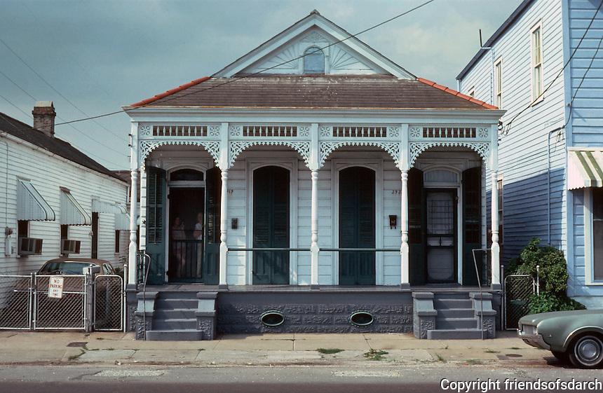 NewOrleans:  2919 & 2921 St. Claude --a 2-barreled shotgun house.