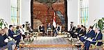 Egyptian President Abdel Fattah al-Sisi meets with Slovenian President Borut Pahor, in Cairo, Egypt, on December 05, 2016. Photo by Egyptian President Office