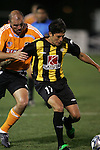 28 March 2007: Charleston's Armando Romero (17) controls the ball as Houston's Craig Waibel (left) defends. The Houston Dynamo tied the Charleston Battery 1-1 at Blackbaud Stadium in Charleston, South Carolina in a Carolina Challenge Cup preseason match.