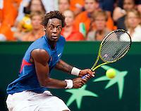 18-9-09, Netherlands,  Maastricht, Tennis, Daviscup Netherlands-France, Gaile Monfils