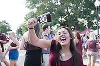Game Day: MSU Football versus South Carolina. Fans around Junction.<br />  (photo by Megan Bean / &copy; Mississippi State University)
