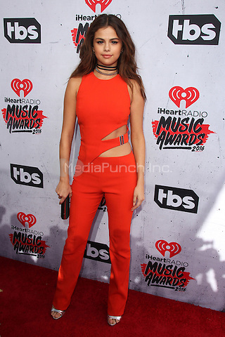 INGLEWOOD, CA - APRIL 3: Selena Gomez at the iHeartRadio Music Awards at The Forum on April 3, 2016 in Inglewood, California. Credit: David Edwards/MediaPunch