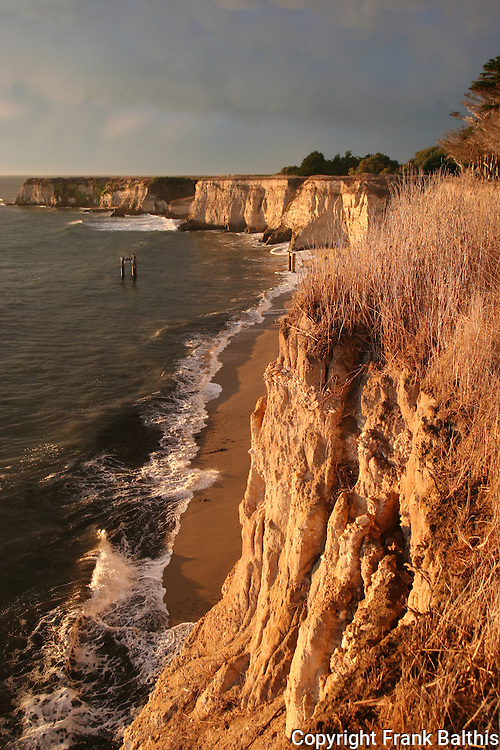 Cliffs in Davenport at sunset