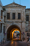 Armenian Patriachate Street in the Armenian Quarter of the Old City of Jerusalem.  The Old City of Jerusalem and its Walls is a UNESCO World Heritage Site