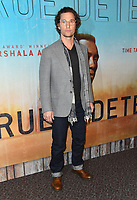 "10 January 2019 - Hollywood, California - Matthew McConaughey. ""True Detective"" third season premiere held at Directors Guild of America. Photo Credit: Birdie Thompson/AdMedia"