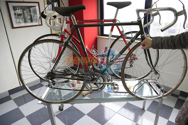 Tommasini's first bikes were branded as Thomas on display in the showroom at the Tommasini factory based in Grosseto, Tuscany, Italy 6th March 2017.<br /> Picture: Eoin Clarke | Newsfile<br /> <br /> <br /> All photos usage must carry mandatory copyright credit (© Newsfile | Eoin Clarke)