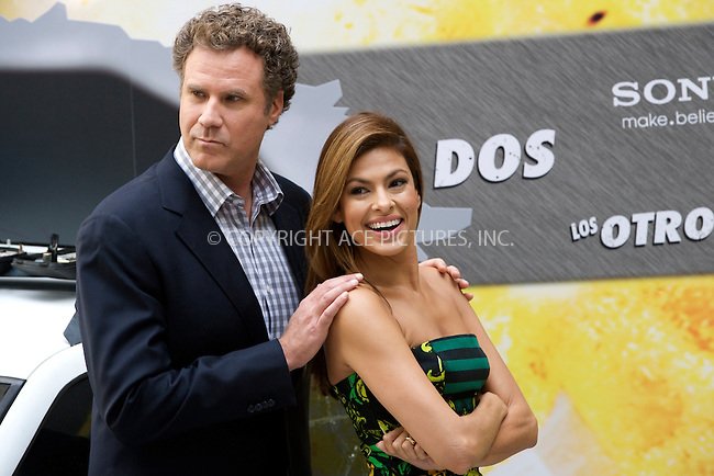 WWW.ACEPIXS.COM . . . . .  ..... . . . . US SALES ONLY . . . . .....November 11 2010, Madrid....Eva Mendes and Will Ferrell at the photocall for 'The Other Guys' on November 11 2010 in Madrid....Please byline: FD/ACE Pictures, Inc.... . . . .  ....Ace Pictures, Inc:  ..Tel: (212) 243-8787..e-mail: info@acepixs.com..web: http://www.acepixs.com