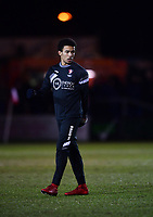 Cheltenham Town's Jerell Sellars during the pre-match warm-up<br /> <br /> Photographer Chris Vaughan/CameraSport<br /> <br /> The EFL Sky Bet League Two - Lincoln City v Cheltenham Town - Tuesday 13th February 2018 - Sincil Bank - Lincoln<br /> <br /> World Copyright &copy; 2018 CameraSport. All rights reserved. 43 Linden Ave. Countesthorpe. Leicester. England. LE8 5PG - Tel: +44 (0) 116 277 4147 - admin@camerasport.com - www.camerasport.com