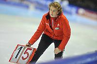 SCHAATSEN: HEERENVEEN: 26-12-2013, IJsstadion Thialf, KNSB Kwalificatie Toernooi (KKT), Renate Groenewold (trainer/coach Team Corendon), ©foto Martin de Jong