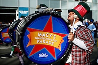 USA, New York, Nov 28, 2013. Members of a music band take part in the 87th Macy's Thanksgiving Day Parade in New York City. Photo by VIEWpress/Eduardo Munoz Alvarez