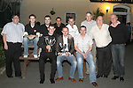 Karl O'Donoghue with John McMahon, Ken Martin, Gavin Geraghty, Rod Clifford, Vinnie Dunne, Gareth Fitzpatrick David Duggan and Johnny Friel and Matt Stephenson at the Party for the 2010 U21 World Pool Champion in Alverno House, Laytown....Photo NEWSFILE/Jenny Matthews.(Photo credit should read Jenny Matthews/NEWSFILE)....This Picture has been sent you under the condtions enclosed by:.Newsfile Ltd..The Studio,.Millmount Abbey,.Drogheda,.Co Meath..Ireland..Tel: +353(0)41-9871240.Fax: +353(0)41-9871260.GSM: +353(0)86-2500958.email: pictures@newsfile.ie.www.newsfile.ie.FTP: 193.120.102.198.