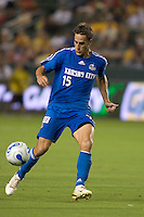 Kansas City forward Josh Wolff dribbles the ball upfield. The Los Angeles Galaxy defeated the Kansas City Wizards, 2-1, at the Home Depot Center in Carson, Calif. on September 2, 2006. The Los Angeles Galaxy defeated the Kansas City Wizards, 2-1, at the Home Depot Center in Carson, Calif. on September 2, 2006.