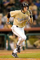 Vanderbilt shortstop Ryan Flaherty (22) hustles down the first base line versus Rice at the 2007 Houston College Classic at Minute Maid Park in Houston, TX, Friday, February 9, 2007.  Vanderbilt defeated Rice 7-3.