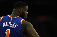 17th January 2019, The O2 Arena, London, England; NBA London Game, Washington Wizards versus New York Knicks; Emmanuel Mudiay of the New York Knicks