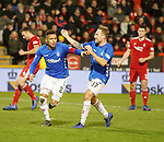 06.02.2019 Aberdeen v Rangers: James Tavernier scores from the spot and celebrates