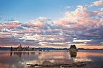 Sunset over California's Mono Lake