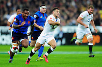 Danny Care of England goes on the attack. RBS Six Nations match between France and England on March 19, 2016 at the Stade de France in Paris, France. Photo by: Patrick Khachfe / Onside Images