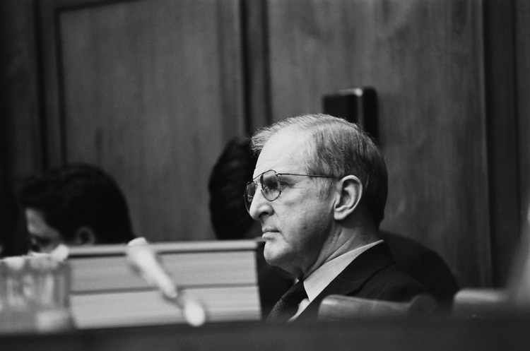 Rep. Sam Johnson, R-Tex., on Feb. 22, 1992. (Photo by Maureen Keating/CQ Roll Call via Getty Images)