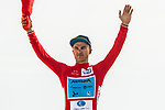 Alexey Lutsenko (KAZ) Astana Pro Team retains the leaders Red Jersey at the end of Stage 4 of 10th Tour of Oman 2019, running 131km from Yiti (Al Sifah) to Oman Convention and Exhibition Centre, Oman. 19th February 2019.<br /> Picture: ASO/K&aring;re Dehlie Thorstad | Cyclefile<br /> All photos usage must carry mandatory copyright credit (&copy; Cyclefile | ASO/K&aring;re Dehlie Thorstad)