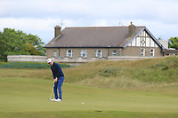 Geoff Lenehan (Portmarnock) on the 3rd green during Round 4 of the East of Ireland Amateur Open Championship at Co. Louth Golf Club in Baltray on Monday 5th June 2017.<br /> Photo: Golffile / Thos Caffrey.<br /> <br /> All photo usage must carry mandatory copyright credit     (&copy; Golffile | Thos Caffrey)