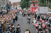 bunch sprint finish with Marcel Kittel (DEU/QuickStep Floors) beating Edvald Boasson Hagen (NOR/Dimension Data) by 0,0003 seconds (!!!) or 6mm<br /> <br /> 104th Tour de France 2017<br /> Stage 7 - Troyes &rsaquo; Nuits-Saint-Georges (214km)
