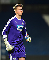 West Bromwich Albion U18's Josh Griffiths<br /> <br /> Photographer Andrew Vaughan/CameraSport<br /> <br /> FA Youth Cup Round Three - West Bromwich Albion U18 v Lincoln City U18 - Tuesday 11th December 2018 - The Hawthorns - West Bromwich<br />  <br /> World Copyright &copy; 2018 CameraSport. All rights reserved. 43 Linden Ave. Countesthorpe. Leicester. England. LE8 5PG - Tel: +44 (0) 116 277 4147 - admin@camerasport.com - www.camerasport.com