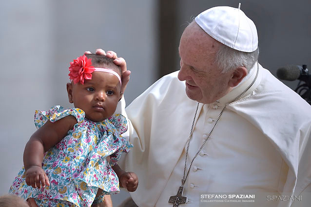 Pope Francis during of a weekly general audience at St Peter's square in Vatican.June 13, 2018