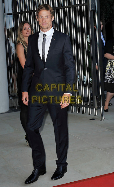 Jenson Button .attending the McLaren Car Showroom Launch at One Hyde Park, Knightsbridge, London, England, UK, June 21st 2011..full length grey gray black suit tie white shirt .CAP/MAR.© Martin Harris/Capital Pictures.