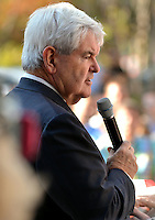 11/17/11 3:50:52 PM -- Jacksonville, FL, U.S.A. -- Republican presidential candidate Newt Gingrich addresses and answers questions from the audience during a town hall meeting at The Jacksonville Landing in downtown Jacksonville, Fl. Thursday afternoon November 17, 2011. The the meeting was sponsored by the First Coast Tea Party.   Photo by Rick  Wilson, Freelance.