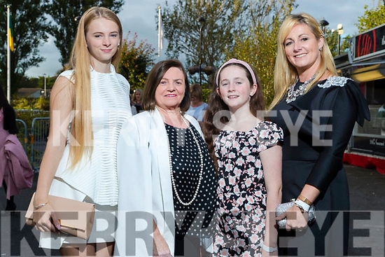 Siofra Foley, Teresa Irwin, Jacklyn Owens and Clodagh Irwin Owens (Killorglin) at the Rose of Tralee fashion show at the dome on Sunday night.