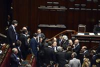 Roma, 20 Aprile 2013.Camera dei Deputati.Votazione del Presidente della Repubblica a camere riunite..Silvio Berlusconi  attorniato da Deputati e Senatori