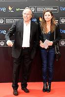 "Singer Joan Manuel Serrat and his wife Candela Tiffon posse in the photocall of the ""Vivir es facil con los ojos cerrados"" film presentation during the 61 San Sebastian Film Festival, in San Sebastian, Spain. September 24, 2013. (ALTERPHOTOS/Victor Blanco) /Nortephoto"