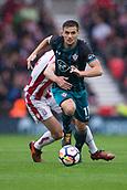 30th September, bet365 Stadium, Stoke-on-Trent, England; EPL Premier League football, Stoke City versus Southampton; Southampton's Dusan Tadic looks ahead