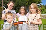 MUSICAL KIDS: An art, music and drama summer camp kept children in Kilflynn entertained last week. Pictured were: Hazel Parker, Stephen Shanahan, Aoibheann Stafford and Taylor O'Brien