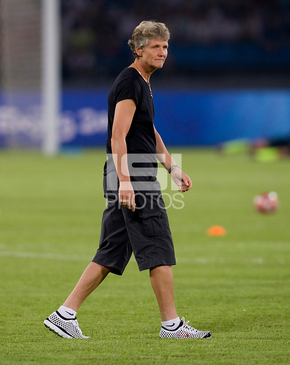 Pia Sundhage. The USWNT defeated Japan, 4-2, during the semi-finals of the Beijing 2008 Olympics in Beijing, China.