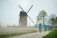 Team Astana<br /> <br /> 2014 Paris-Roubaix reconnaissance
