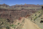View of the South Kaibab Trail and the Tonto Plateau, Grand Canyon National Park, northern Arizona, USA .  John leads hiking and photo tours throughout Colorado. . John offers private photo tours in Grand Canyon National Park and throughout Arizona, Utah and Colorado. Year-round.