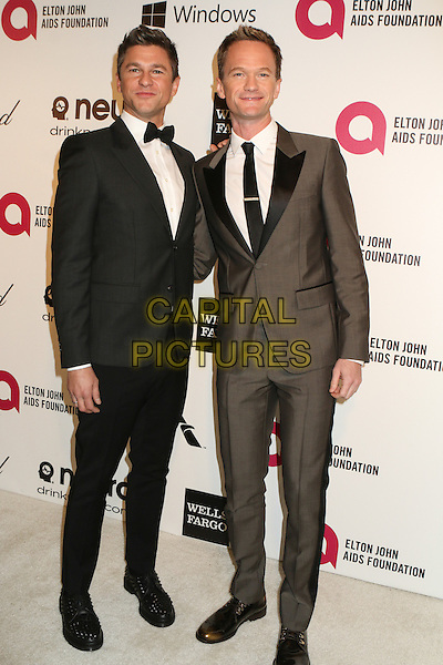 WEST HOLLYWOOD, CA - MARCH 2: Neil Patrick Harris, David Burtka attending the 22nd Annual Elton John AIDS Foundation Academy Awards Viewing/After Party in West Hollywood, California on March 2nd, 2014. Photo <br /> CAP/MPI/COR99<br /> &copy;COR99/MediaPunch/Capital Pictures
