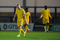 Bolton Wanderers' Ali Crawford looks dejected after Rochdale equalise through Aaron Wilbraham (not in picture)<br /> <br /> Photographer Kevin Barnes/CameraSport<br /> <br /> EFL Leasing.com Trophy - Northern Section - Group F - Rochdale v Bolton Wanderers - Tuesday 1st October 2019  - University of Bolton Stadium - Bolton<br />  <br /> World Copyright © 2018 CameraSport. All rights reserved. 43 Linden Ave. Countesthorpe. Leicester. England. LE8 5PG - Tel: +44 (0) 116 277 4147 - admin@camerasport.com - www.camerasport.com