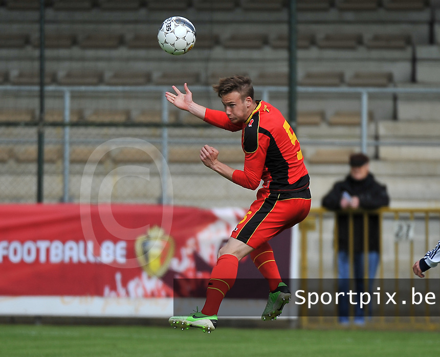 Scotland U19 - Belgium U19 : Alexander Corryn.foto DAVID CATRY / Nikonpro.be