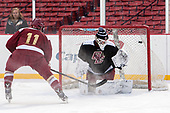 Chris Calnan (BC - 11), Ian Milosz (BC - 29) - The Boston College Eagles practiced at Fenway on Friday, January 6, 2017, in Boston, Massachusetts.
