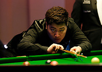 25th February 2020; Waterfront, Southport, Merseyside, England; World Snooker Championship, Coral Players Championship; Yan Bingtao (CHN) at the table during his first round match against Kyren Wilson (ENG)